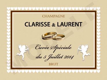 exemple dtiquette personnalise pour un mariage - Tiquette Personnalise Champagne Mariage