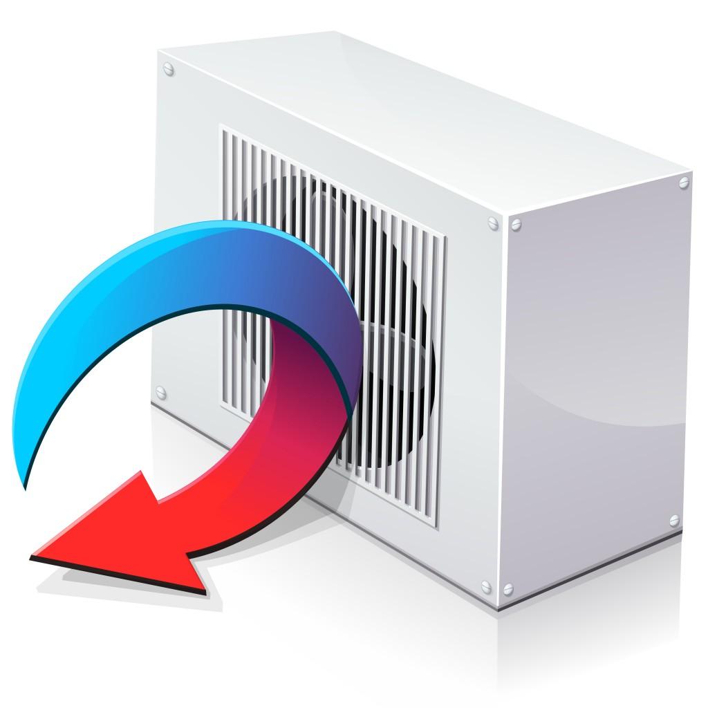 Pompe à chaleur réversible en mode climatisation